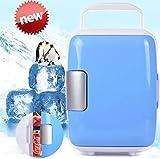 Auto Chaud Froid Portable Mini Frigo Camping Réfrigérateur de Voitur (En hiver, il peut également être utilisé pour le chauffage) Bleu