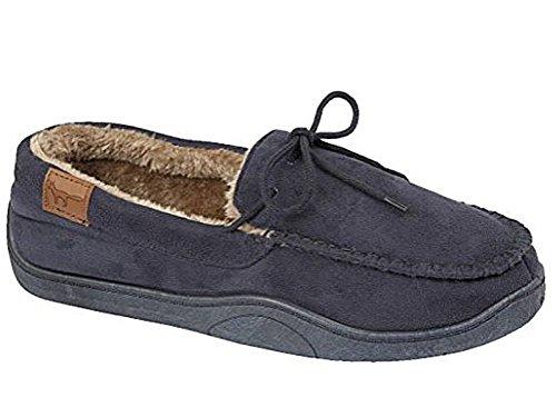 Mocassins pour homme Foster - Textile synthétique doublé - Taille: 41 - 47 Bleu Marine