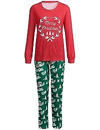 Jaysis Weihnachten Familienpyjamas, Mama & Ich & Daddy Weihnachten Indoor Shirt Hosen Sets 2 Stücke Schlaf Nachtwäsche Passende Weihnachtssets