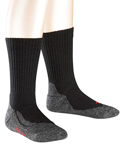 FALKE Unisex - Kinder Socken 10450 Active Warm SO, Gr. 23/26 ,Schwarz(black 3000) (Kind Socken Warm)