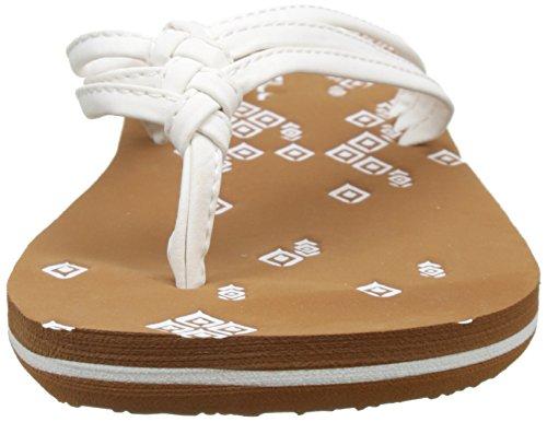 O'Neill Fw 3 Strap Ditsy Flip Flop, Chaussures de Plage et Piscine Femme Blanc (Fluoro Peau)