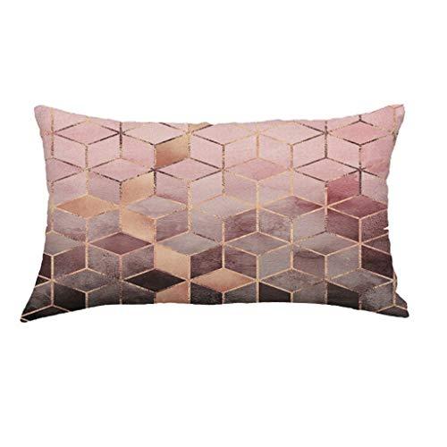 Lomsarsh Super weiche geometrische Kurze Plüsch Kissenbezug Sofa Pad Set Home Decoration -