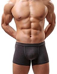 Sannysis® Hombres Ropa Interior; Hombres Calzoncillos (Gris, XL)