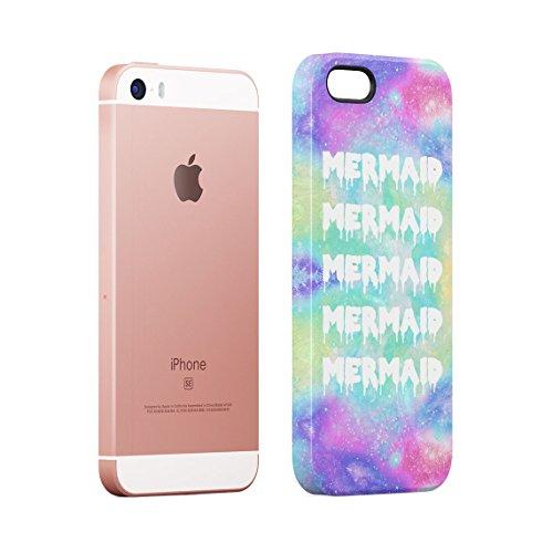 Ocean Waves Alien Emoji Custodia Posteriore Sottile In Plastica Rigida Cover Per iPhone 5 & iPhone 5s & iPhone SE Slim Fit Hard Case Cover Mermaids