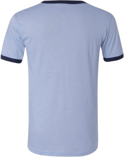 Leinwand C3055Ringer Tee Blau - heather blue/navy