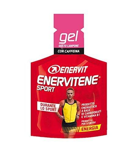 Enervit Enervitene Sport Taste Frambuesa y cafeína Caja de 24 geles de 25 ml