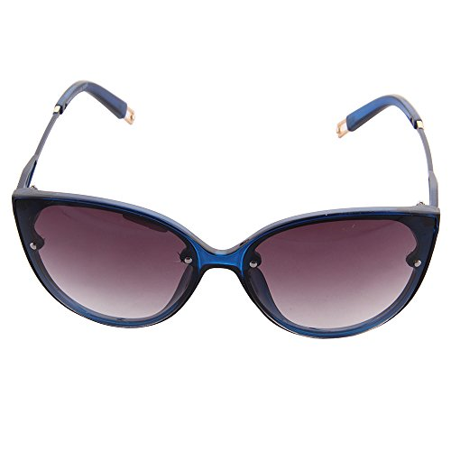 OGOBVCK cat eye runde mode sport driving frauen - sonnenbrille (blau) (Cat-schein)