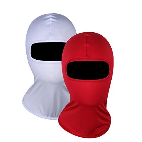 Taktisches Fliegen Tiger Hut,Winddicht Ski Gesichtsmaske Sturmhauben (Red & White) (White Tiger Ohren)