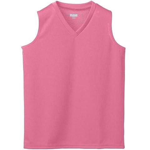 Augusta Sportswear Girls' WICKING MESH SLEEVELESS JERSEY L Pink (US)