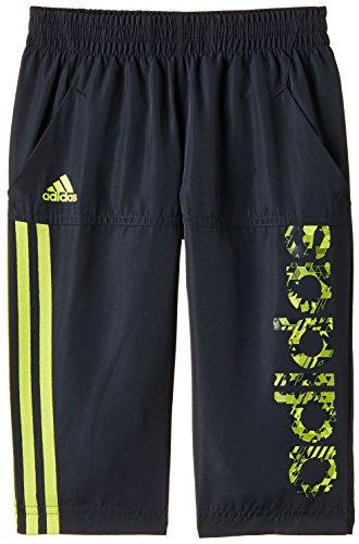 adidas Unisex Trousers (S22612_Dark Grey, White and Semi Solar Yellow_5-6 years)