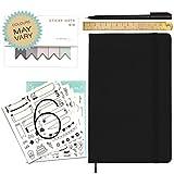 Stationery Island A5 Notizbuch Dotted mit Accessoires - Hardcover Bullet Journal Grundlagen-Set mit 120gsm Qualitätspapier Schwarz