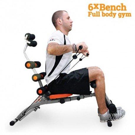 Panca per Allenamento 6xBench Muscoli Addominali Braccia e Schiena