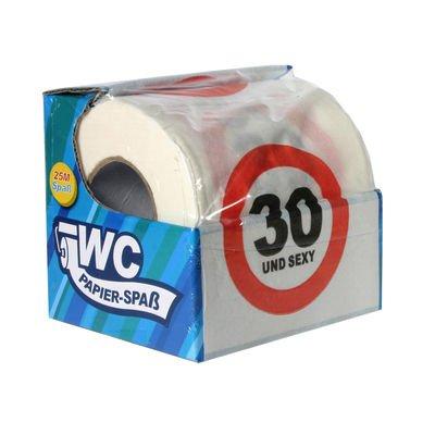 geburtstag geschenke toilettenpapier 30 und f r 25 meter spa. Black Bedroom Furniture Sets. Home Design Ideas