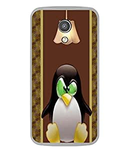 PrintVisa Designer Back Case Cover for Motorola Moto G2 :: Motorola Moto G (2nd Gen) (Cute Penguin Under Light Design)