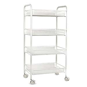 homfa servierwagen servierwagen rollwagen k chenwagen beistellwagen mit k rben aus. Black Bedroom Furniture Sets. Home Design Ideas