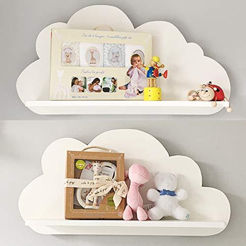 Nube estantes en color blanco para a los niños de guardería de...