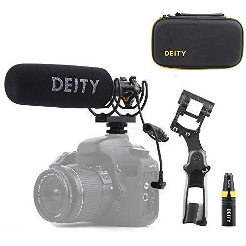 Deity V-Mic D3 Pro Location Kit Super-Niere Richtungs Schrotflinten Mikrofon mit Kalter Schuh Rycote Shockmount für DSLR-Kamera, Camcorder, Smartphones, Tablets, Handy-Recorder