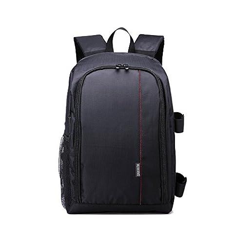 YAAGLE SLR-Kamerarucksack wasserdicht Laptoptasche für 15.6 Zoll Reiserucksack Canon Kameratasche, Fotorucksack(Rot)