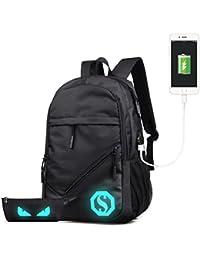 UNYU Juego de 3 mochilas escolares ultraligeras resistentes al agua para adolescentes, niños, casual,…