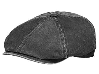 Brooklin Old Cotton Coppola Stetson cotton cap cappello piatto S/54-55 - nero