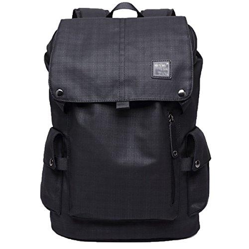 Schultertasche Männer Große Kapazität Business Casual Rucksack Computer Tasche Sport Student Tasche,Black2-M