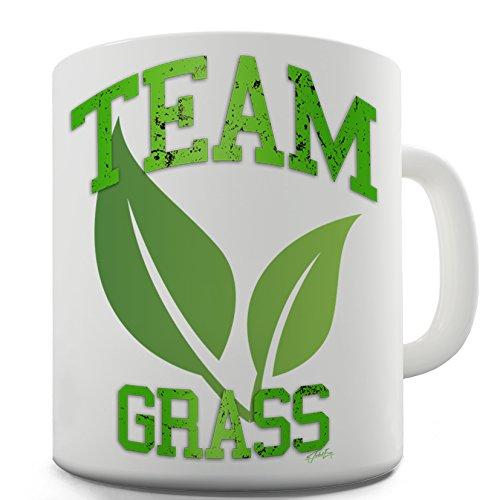 Twisted Gras (Funny Kaffee Tasse Team Gras von Twisted Envy, keramik, weiß, 15 OZ)