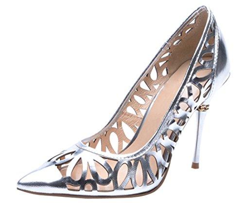 TDA , Sandales Compensées femme silver