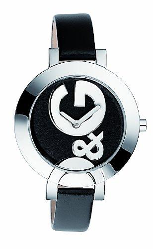 Dolce & Gabbana DW0520 - Reloj de mujer de cuarzo, correa de piel color negro