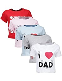 Goodway Infant's Mom and Dad Theme T-Shirts - Pack of 5