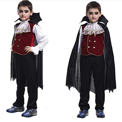 GHLLSAL Earl of Vampir Kostüm Kinder Halloween Weihnachten Klassische Cosplay Kleidung Jungen Karneval Vampire Kostüme, M