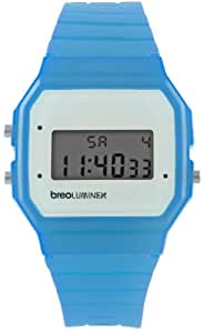 Breo Luminex Unisex Retro Cool Watch with LCD Dial and Blue Plastic Strap