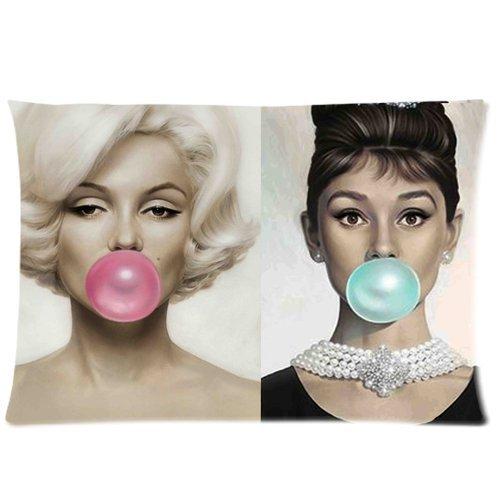 Trendsetter Audrey Hepburn und Marilyn Monroe DIY Kissenbezüge Werfen Kissenbezug Kissen Fall 16x 24(Zwei Seiten)