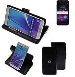 K-S-Trade® 360° Funda Smartphone para LG Electronics K8+ (2018), Negro | Función De Stand Caso Monedero BookStyle Mejor Precio, Mejor Funcionamiento