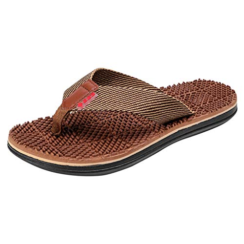 Sandalen Herren Freizeitschuhe Mode Zehentrenner Casual Strandschuhe Flache Flip Flops Hausschuhe Outdoor Massage Schuhe