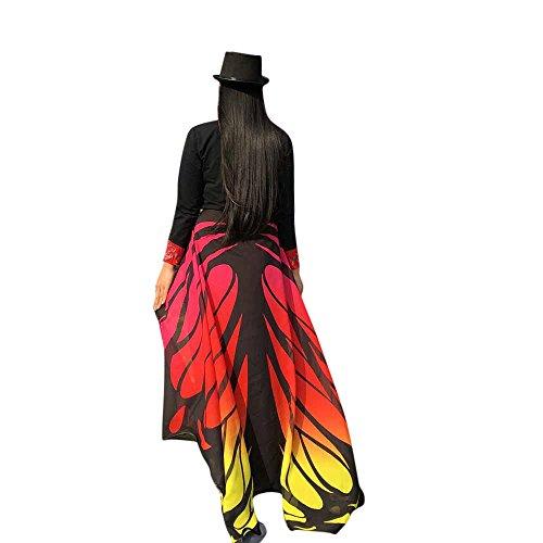 ZEELIY Karneval Fasching Halloween Parties Weiche Stoff Schmetterlingsflügel Schal Fairy Lady Nymphenelf Dress Accessories (Kostüm Gutschein 25)