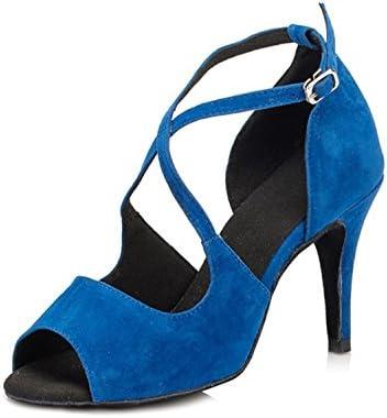 De baño de mujer Minitoo Stiletto de raso con diseño fruncido para fiesta de tacones de sandalias de gamuza zapatos de baile diseño de boda