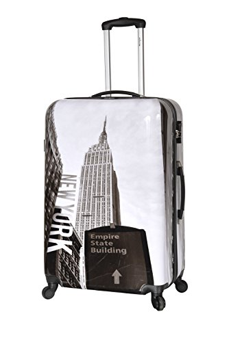 New-York Building - Valise trolley rigide 4 roulettes...