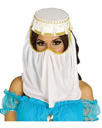 Horror-Shop Arabische Prinzessin Hut mit Schleier als Kostüm ()