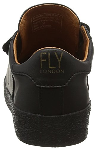 FLY London Bire824fly, Baskets Basses Femme Noir (Black(blacksole) 001)