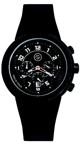 Philip Stein Men's 32ABRBB Active Large Chronograph Silicone Strap Watch