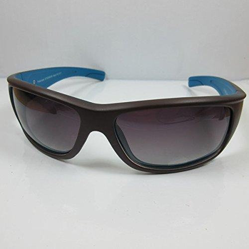 KOST Sportliche polarisierte Sonnenbrille 100% UV Cat.3 Sunglases für SIE & IHN M3 braun-blau Linsen braun