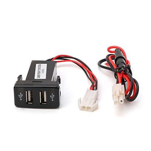 GBOTTOM 12V 4.2A Adattatore per Presa per Caricabatterie per Auto a 2 Porte USB a 2 Porte con Luce LED per Toyota Vigo