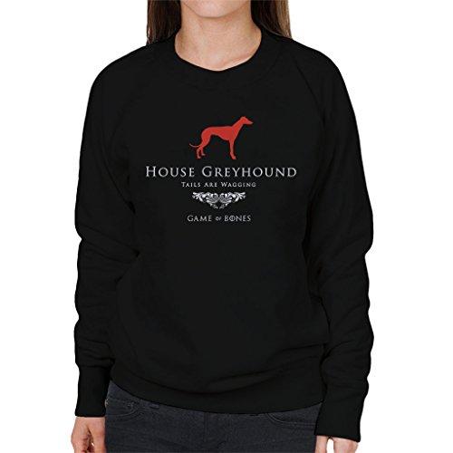 House Greyhound Game Of Thrones Inspired Women's Sweatshirt Black