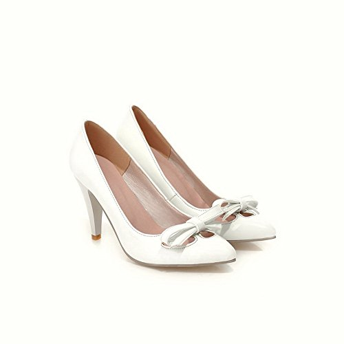 BalaMasa antiscivolo, da donna con tacco alto, materiale morbido pompe-Shoes White