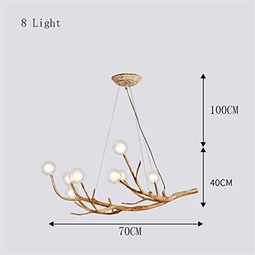 Pendelleuchten Led Pendelleuchte Wohnzimmer Beleuchtung Nordic Design Glas Harz Zweig Licht Anhänger -