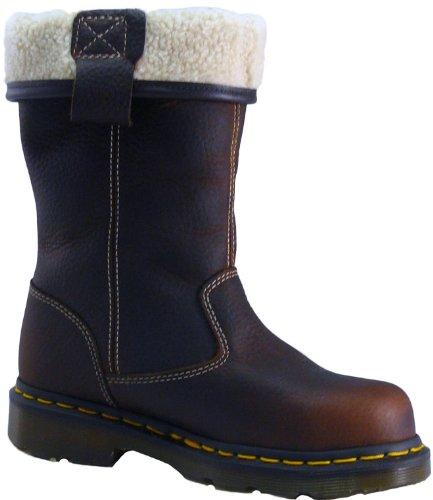 Dr. Martens Pink St Bottes De Sécurité Pour Femmes Chaussures En Cuir Teck Casual - Rose St, Marron, 38 Eu