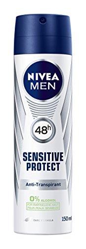 Nivea Men Sensitive Protect Deo-Spray, Anti-Transpirant-Schutz, 6er Pack (6 x 150 ml)
