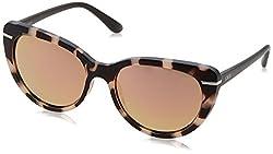 IDEE Mirrored Phantos Womens Sunglasses - (IDS2197C3SG|56|Brown Color)
