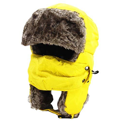 Zoylink Outdoor Trapper Hut Winddichte Maske Uschanka Russischer Hut Winter Jagdhut Trapper Ski