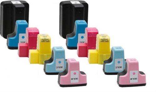 Preisvergleich Produktbild Tintenpatronen für HP Photosmart C5180(2x Schwarz + 2x Cyan + 2x Magenta + 2x Gelb + 2x Cyan hell + 2x Magenta hell), hochwertig, 12 Stück